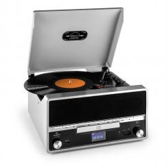 RTT 1922 Retro-Stereoanlage MP3 CD USB UKW AUX Aufnahmefunktion Silber