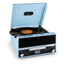 RTT 1922 Retro-Stereoanlage MP3 CD USB UKW AUX Aufnahmefunktion blau Blau