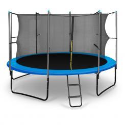 Rocketboy Gartentrampolin mit Sicherheitsnetz Profi Trampolin 366 cm Bla Blau | 366 cm