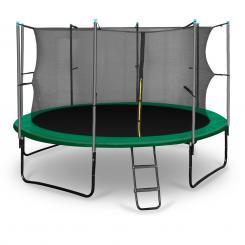 Rocketstart 366 Trampolin 366cm Sicherheitsnetz innen breite Leiter grün Grün | 366 cm