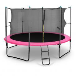 Rocketgirl 366 Trampolin 366cm Sicherheitsnetz innen breite Leiter pink Pink | 366 cm