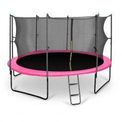 Rocketgirl 430 Trampolin 430cm Sicherheitsnetz innen breite Leiter pink Pink | 430 cm