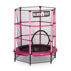 Rocketkid Trampolin 140cm Sicherheitsnetz innen Bungeefederung pink Pink
