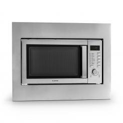 Steelwave Mikrowelle 23l 800W Grill 1000W Edelstahl Einbaurahmen Mit Rahmen