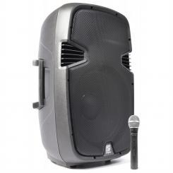 "SPJ-1500A aktiver 38cm (15"") PA-Lautsprecher 800W VHF AUX inkl. Mikro"