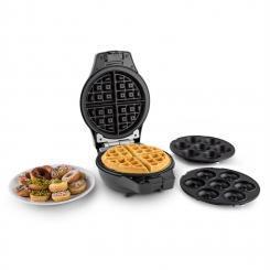 Trinity Mini Cake-Pop-Maker Waffeleisen Donut-Maker 1000W schwarz Schwarz