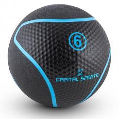 Rotunder Medizinball 6kg Gummi schwarz 6 kg