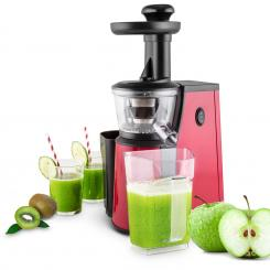 Jimmie Andrews SlowJuicer Entsafter 400W Edelstahl rot Rot