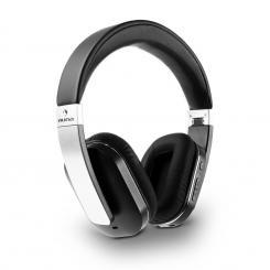 Elegance Bluetooth-NFC-Kopfhörer Akku Freisprech Kunstleder Alu aptX Silber
