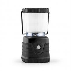 Yorion Campinglaterne LED 600 Lumen 150h 15m Akku eckig schwarz Schwarz