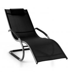 Sunwave Gartenliege Liegestuhl Schwingliege Relax Aluminium schwarz Schwarz