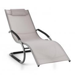 Sunwave Gartenliege Liegestuhl Schwingliege Relax Aluminium taupe Grau