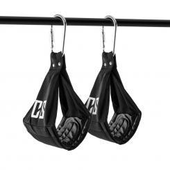 Armlug Ab Slings Armschlaufen Metall-Karabinerhaken max. 120 kg Schwarz