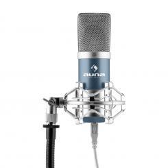 MIC-900BL USB Kondensator Mikrofon blau Niere Studio Blau | Silber