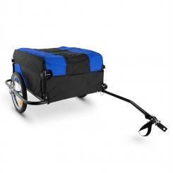 Mountee Fahrradanhänger Lastenanhänger 130l 60kg Stahlrohr blau-schwarz Blau