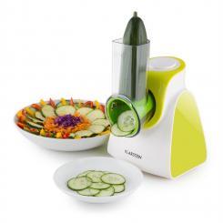 Carrot & Rock Salatschneider Gemüsehobel Reibe 150W 5 Aufsätze grün Grün