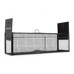 Catch&Carry XL Marderfalle 30x30x100cm Lebendfalle 2mm Stahl schwarz 100 cm