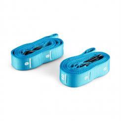 Addic Nylongurte 2 Stück Karabinerhaken Wettkampf-Standard blau Blau