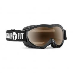 Snow View Skibrille Snowboardbrille Mirror Coating Vollrahmen schwarz