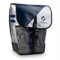 Yuka Gepäckträgertasche wasserdicht 14 Liter metallic/blau Blau