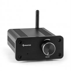 BT-Bro Mini-Stereo-Verstärker Class-D Bluetooth Aluminium schwarz Schwarz