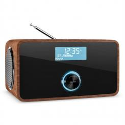 DABStep DAB/DAB+ Digitalradio Bluetooth UKW RDS Wecker Walnuss Walnuss