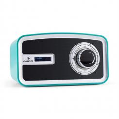 Sheffield blue Retro Digitalradio DAB+ UKW Batteriebetrieb türkis