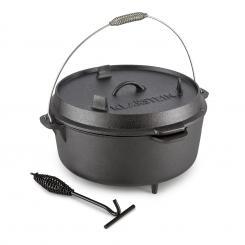 Hotrod 145 Dutch Oven BBQ-Topf 12 qt / 11,4 Liter Gusseisen schwarz 11,4 Ltr