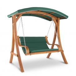 Tahiti Hollywoodschaukel 110 cm 2-Sitzer Sonnendach Polyester Lärche Grün