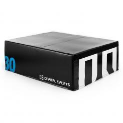 Rookso Soft Jump Box Plyo Box 90x30x75 cm schwarz 30 cm