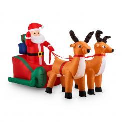 X-Mas X-Press aufblasbarer Weihnachtsmann Schlitten 240cm LED