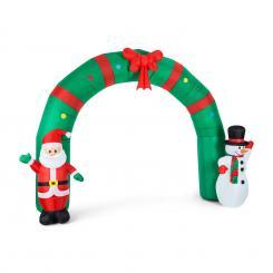 Merry Welcome aufblasbare Weihnachtsdeko Tor 250cm LED