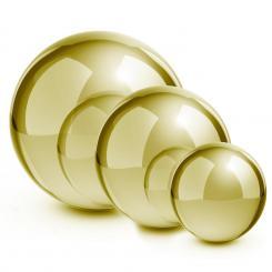 Golden Globes Edelstahl Gartenkugel Dekokugel 3er-Set Gold 13/20/28 cm