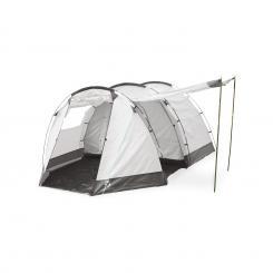 Jomida Tunnelzelt 4 Personen 260x150x410 cm Polyester 3000 mm grau Grau