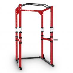 Tremendour Power Rack Homegym Stahl rot weiß Rot | ohne Lat-Zug