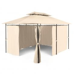 Grandezza Gartenpavillon Partyzelt 3x4m Stahl Polyester beige Beige