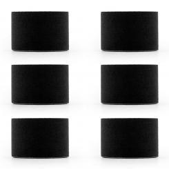 Bondies Kinesiologie Tape 6 Rollen 5 cm breit 5 m lang elastisch Schwarz