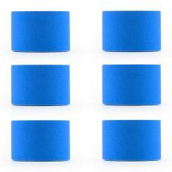 Bondies Kinesiologie Tape 6 Rollen 5 cm breit 5 m lang elastisch Blau