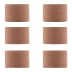 Bondies Kinesiologie Tape 6 Rollen 5 cm breit 5 m lang elastisch Beige