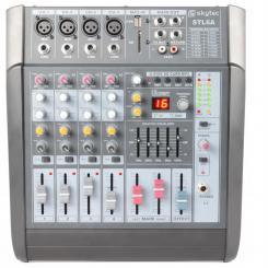 STL6A aktives 6-Kanal-Mischpult 600W Verstärker USB SD MP3 EQ FX +48V