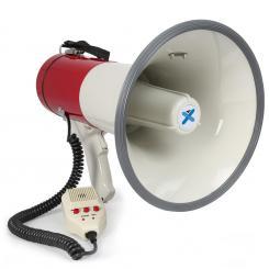 MEG050 Megafon 50W Aufnahmefunktion Sirene Mikrofon Batteriebetrieb Gurt