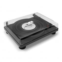 TT Classic BK Retro-Plattenspieler USB Line-Out Lautsprecher Piano-Schwarz Schwarz