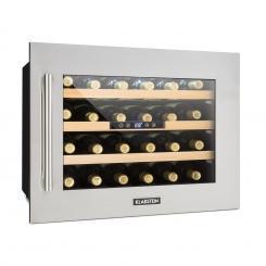 Vinsider 24D Weinkühlschrank Einbau 1 Kühlzone 24 Flaschen Edelstahl Silber