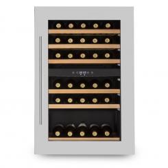 Vinsider 35D Einbau-Weinkühlschrank 128 Liter 41 Weinflaschen 2 Zonen silver