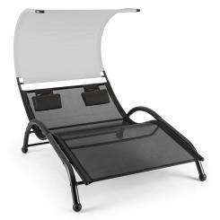 Dandyland Doppel-Schwingliege 130x200 cm Sonnendach grau Grau