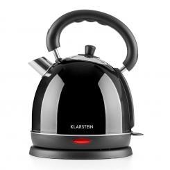 Teatime Wasserkocher Teekessel 1850 W 1,8 l Edelstahl schwarz Schwarz