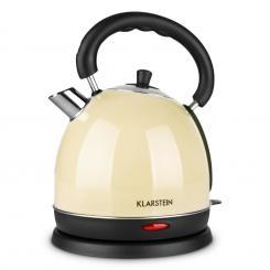Teatime Wasserkocher Teekessel | 1850 - 2200 W | Fassungsvermögen:  1,8 l | Cool-Touch-Griff | rostfreier Edelstahl Creme