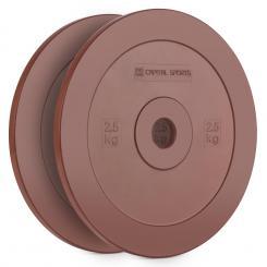 Methoder Technikscheibe Gewichtsplatten Gummi Paar 2,5 kg rot 2x 2.5 kg