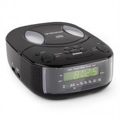 Dreamee BK Radiowecker mit CD-Player UKW/MW AUX Dual-Alarm schwarz Schwarz