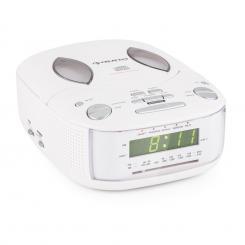 Dreamee SL Radiowecker mit CD-Player UKW/MW AUX Dual-Alarm weiß Weiß